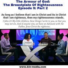 Join the conversation!  Have you been watching 'THE ARMOUR OF GOD' series? Part 3 - The Breastplate of Righteousness, will be available soon. The tapings are available on YouTube. Our channel is: KLN MEDIA.  We are the righteousness of God in Christ Jesus, when we are born again. Knowledge and understanding is needed to bring awareness of the complete armour of God, which we have available everyday against the plans of the enemy. #believe and #receive it!  #kln #kingdomlivingnow #Christ…