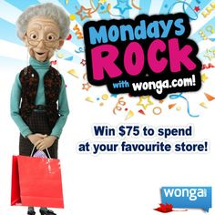 Happy Monday! Enter to win $75 to spend at your favourite store: https://www.facebook.com/photo.php?fbid=479400192143688=p.479400192143688=1  #winwithwonga