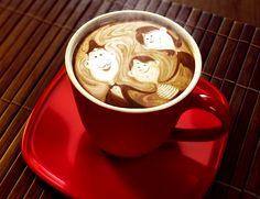 .·:*¨¨*:·.Coffee ♥ Art.·:*¨¨*:·. Family latte