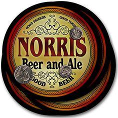 Norris Beer & Ale - 4 pack Drink Coasters ZuWEE…