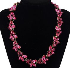 WHOLESALE FASHION JEWELRY ACCESSORIES LADY GORGEOUS VINTAGE CRYSTAL WHEAT PATTERN BIB STATEMENT NECKLACE COLLAR