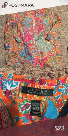 Ralph Loren blouse Size xl . Quarter sleeve good condition Ralph Lauren Tops