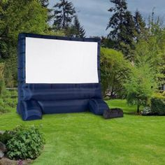 Gemmy 12 Ft Inflatable Deluxe Movie Screen will inflate in just a few minutes. While you get the drinks and decide what movie to watch the screen will be ready!