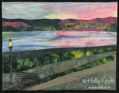 Holly Knott - Contemporary art quilter, website designer and author - Seneca Lake Sunset