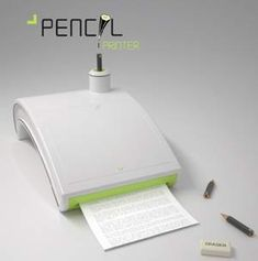 #RIO+20 #ecofriendly #printer uma boa ideia para os cotocos de lápis, rs