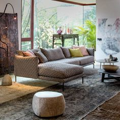"""Designed by Patricia Urquiola Dimensions: 130""""L x 76 3/4""""D Materials: Innofa Cappuccino Made in Italy The new sofa designed by Patricia Urquiola fosters a return to industrial design's capacity for te"""