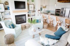 Ashley Gilbreath Interior Design   Parish   Montgomery Alabama   Holland Williams Photography   Coastal Living Room