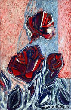 """Saatchi Online Artist Mona Eldeeb; Painting, """"Three Roses"""" #art"""