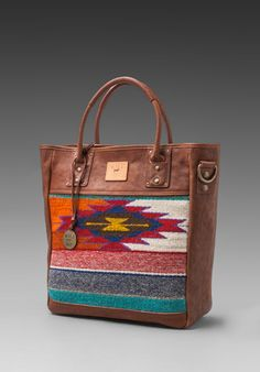 WILL Leather Goods Oaxacan Tote in Cognac