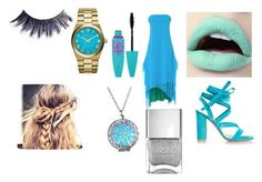 """""""Feeling Blue"""" by palvanimoturi ❤ liked on Polyvore featuring Cédric Charlier, Gianvito Rossi, Maybelline, Michael Kors and Manic Panic NYC"""