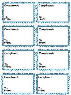 FREE compliment cards for classroom compliment box Classroom Behavior, Art Classroom, Classroom Organization, Classroom Ideas, Classroom Posters, Behaviour Management, Classroom Management, Giving Compliments, Teaching Resources