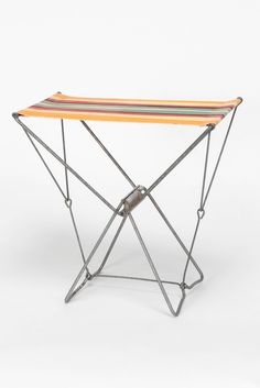 Camping stool manufactured in Switzerland in the 1950's | sold by Okay Art
