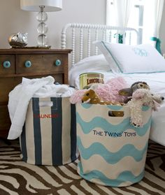 Our Deluxe Personalized Storage Bins are a storage solution that you won't want to hide! These high-end bins are more like practical home decor, and can be used for anything from laundry to toys.