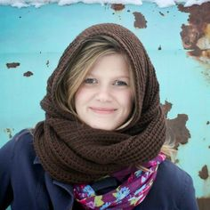 Instant Download Crochet Pattern Loopy/Hoody Cowl by Mamachee