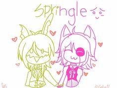 Mangle n Springtrap by Cellie11 on DeviantArt