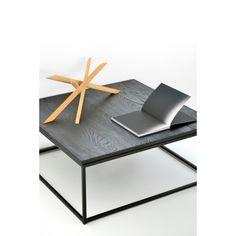 Ethnicraft Oak Thin Salontafel 70 cm - Zwart - afbeelding 3