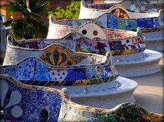 Antoni Gaudi, Parco Guell, Barcelona