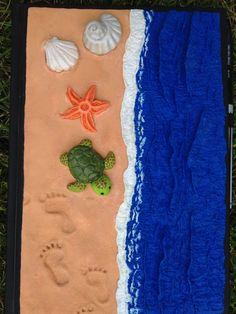 Polymer beach book cover #polymer #diy #littleturtle #beach #beachfeeling #bookcover