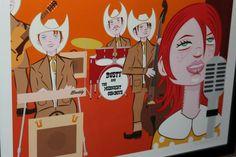 Tom Vadakan for Roadkill Ranch.  #art, #roadkillgirl, #roadkillranch, #fullertonartwalk, #tomvadakan