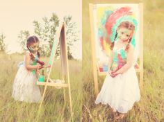 Photo session with a budding artist.