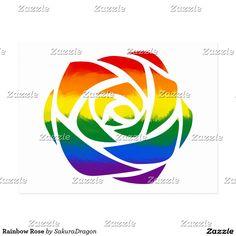 Rainbow Rose Postcard #flower #rose #rainbow #love #romance