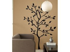 I would like one of the walls in my house to be a painting of a tree. It would probably look best in a baby's nursery.