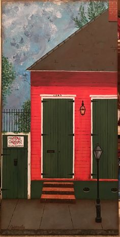 Mandeville artist, Jacqueline Cerise recreated a French Quarter scene using… Using Acrylic Paint, Acrylic Painting Canvas, Jackie Gonzalez, Digital Art Gallery, French Quarter, Contemporary Paintings, Lantern, Journals, Scale