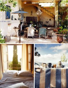 Love everything about this...the outdoor setting, the stripes...love love love
