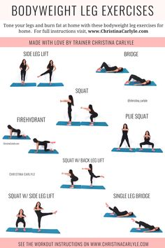 Bodyweight Leg Exercises - No Weights