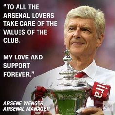 Arsene Wenger, Take Care, Baseball Cards, My Love