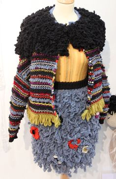 Purple crafts: Inspiration from Knitting and Stitching show in London