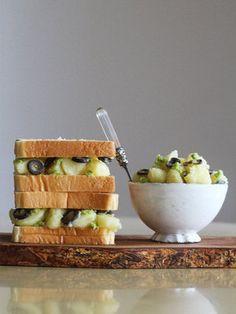 【ELLE gourmet】ポテトわさびサラダのサンドイッチレシピ|エル・オンライン