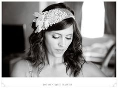 Art Deco Bridal Bandeau- Made to Order (As seen in Rock My Wedding). $600,00, via Etsy.