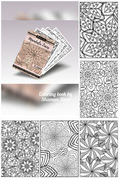 Digital Adult Coloring Book, Printable Pages Mandala Laces, Advanced Coloring Sheets, Coloring for Adults Complicated Templates Digital Download PDF Patterns to Color