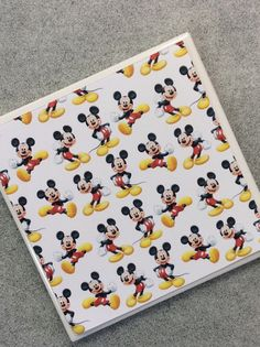 Mickey Mouse Coasters- Mickey Mouse Drink Coasters- Mickey Home Decor - Handmade Ceramic Tile Coasters