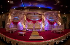 Beautiful Mandap where the ceremony is held. Shot by Capturingarts