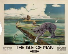 ISLANDS - Isle of Man - depicting the tail-less Manx cat in the foreground.
