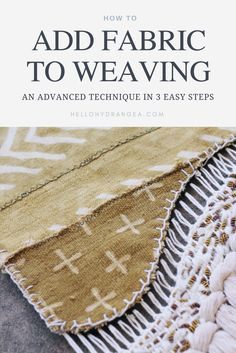 How to Add Fabric to Weaving 2019 hello hydrangea add fabric weaving tutorial The post How to Add Fabric to Weaving 2019 appeared first on Weaving ideas. Weaving Textiles, Weaving Patterns, Tapestry Weaving, Fabric Weaving, Woven Fabric, Knitting Patterns, Tapestry Wall, Stitch Patterns, Weaving Tools