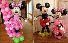 Minnie and Mickey Balloon Art