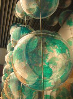 Plastic globes at the Museum für Kommunikation, Berlin We Are The World, Wonders Of The World, Teaching History, History Activities, History Education, History Class, Vintage Globe, World Globes, Map Globe