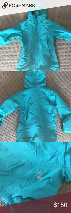 The North Face Summit Series Size M Teal blue jacket. Perfect for the winter. Great insulation. Waterproof and breathable. Watertight zippers, pit zip venting. Water proof gore tex technology designed to keep you dry and warm in the weather. Adjustable Velcro cuff tabs. The North Face Jackets & Coats Utility Jackets