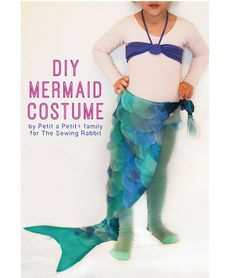 Mermaid Costume DIY Mermaid Costume - The Sewing Rabbit -- only the tail. My 3 yo doesn't need a seashell bra.DIY Mermaid Costume - The Sewing Rabbit -- only the tail. My 3 yo doesn't need a seashell bra. Little Girl Mermaid Costume, Diy Mermaid Tail, Mermaid Tail Costume, Mermaid Tails For Kids, Mermaid Kids, The Little Mermaid, Toddler Mermaid Costumes, Adult Mermaid Costume, Homemade Mermaid Costumes