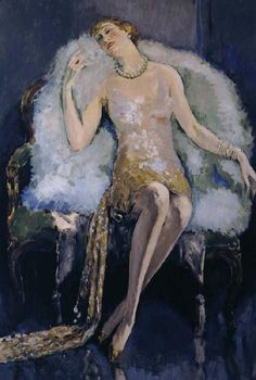 "Kees Van Dongen (Dutch Fauvist Painter, ""The Swan Mantle"", 1925 Figure Painting, Painting & Drawing, Maurice De Vlaminck, Raoul Dufy, Great Works Of Art, Dutch Painters, Dutch Artists, Art For Art Sake, Henri Matisse"