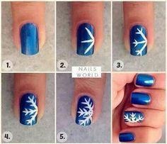 Easy snowflake nail design w/ ROYAL BLUE