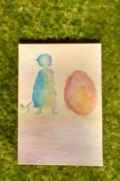 Watercolor Standing Egg Diy