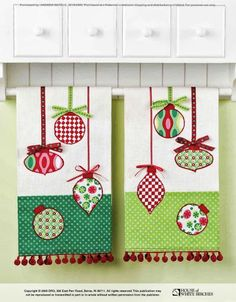 More Christmas tea towels Christmas Towels, Christmas Tea, Christmas Sewing, Christmas Projects, Holiday Crafts, Christmas Patterns, Fabric Crafts, Sewing Crafts, Sewing Projects