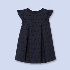 Cotton eyelet dress NAVY BLUE Girl - Baby Clothes - Jacadi Paris