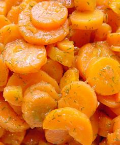 Sunshine Carrots: 3 cups sliced carrots, 1 Tbsp. sugar, 2 Tbsp., butter, 1 Tbsp.lemon juice, ¼ tsp. lemon zest, 1 tsp. chopped parsley. Boil carrots in water until tender; drain well and return to pan. Add sugar, butter, lemon juice and zest to carrots. Cook over medium heat, stirring until butter is melted. Stir in parsley and remove from heat.
