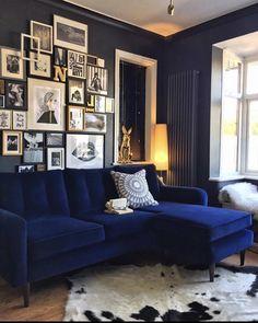 Best modern interior design ideas, modern home decor tips Home Decor Furniture, Diy Home Decor, Living Tv, Bedroom Colour Palette, Snug Room, Blue Velvet Sofa, Living Room Themes, Cosy Bedroom, Home Decor Inspiration