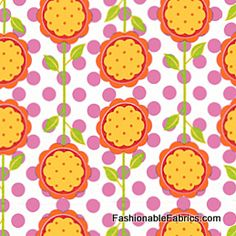 Fabric... Andalucia Mod Blooms in Tangerine by Patty Young